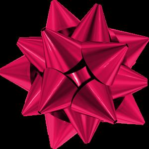 Pink Christmas Bow