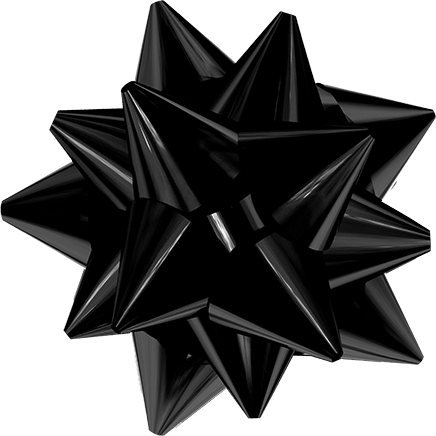 Black Christmas Bow