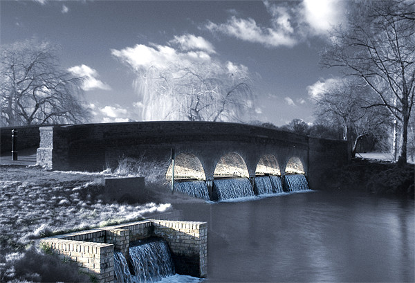 The 5 arches, Footscray Meadows Canvas print by Jon Pankhurst