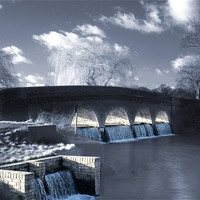 Buy canvas prints of The 5 arches, Footscray Meadows by Jon Pankhurst
