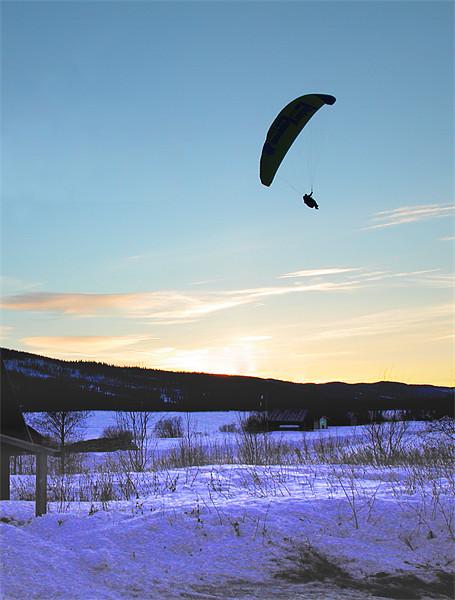 Paraglider landing Canvas print by Jon Pankhurst