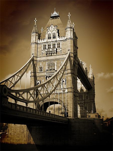 Tower Bridge Sepia (1) Canvas print by Jon Pankhurst