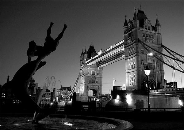 Tower Bridge Black & White (3) Framed Mounted Print by Jonathan Pankhurst