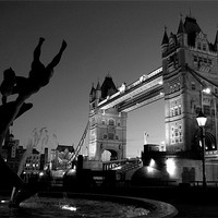 Buy canvas prints of Tower Bridge Black & White (3) by Jon Pankhurst