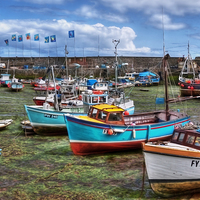 Buy canvas prints of Mevagissey, inner harbour by Jonathan Pankhurst