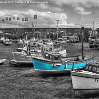 Buy canvas prints of Little blue boats by Jonathan Pankhurst