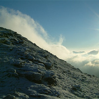 Buy canvas prints of Ben Dorain, The Mountain meets the cloud. by Euan Kennedy