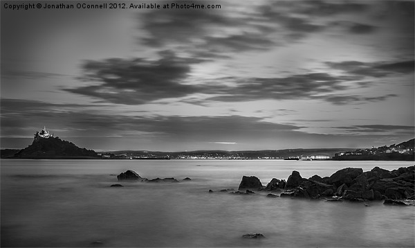 St Michaels Mount by Night Canvas print by Jonathan OConnell