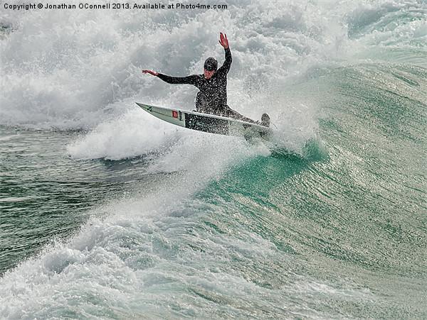 Porthtowan Surf #2 Mar2013 Canvas print by Jonathan OConnell