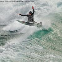 Buy canvas prints of Porthtowan Surf #2 Mar2013 by Jonathan OConnell