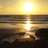 Buy canvas prints of Gold Sunrise by Annabelle Ward
