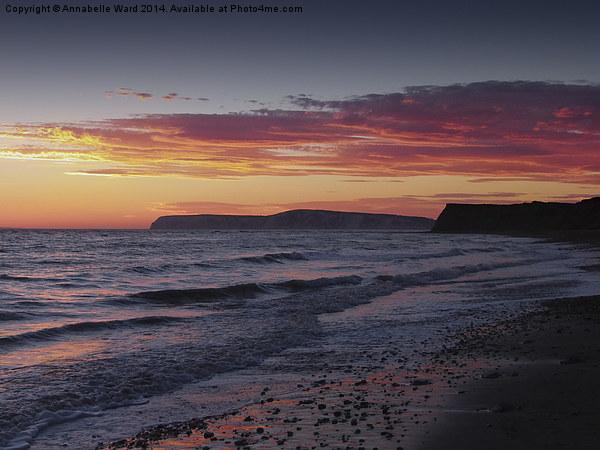Brooke Beach Sunset Canvas print by Annabelle Ward
