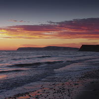 Buy canvas prints of Brooke Beach Sunset by Annabelle Ward