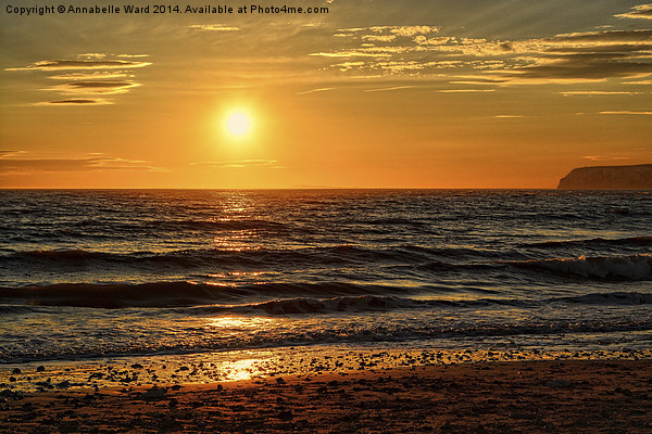 Sunset on the Beach. Canvas print by Annabelle Ward