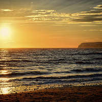 Buy canvas prints of  Sea Sunset by Annabelle Ward