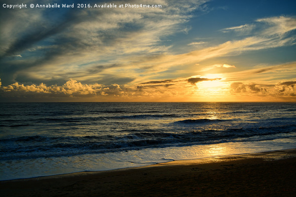 Sea, Sand And Sunset. Canvas print by Annabelle Ward