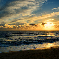 Buy canvas prints of Sea, Sand And Sunset. by Annabelle Ward