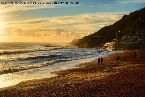 Walk On The Beach Canvas print by Annabelle Ward