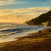 Buy canvas prints of Walk On The Beach by Annabelle Ward