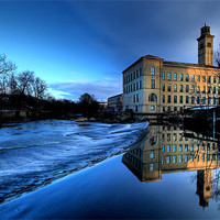 Buy canvas prints of New Mill, Saltaire by mark davis