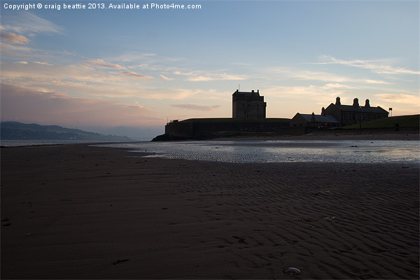 Broughty Castle, Dundee at Sunset Canvas print by craig beattie