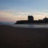 Buy canvas prints of Broughty Castle, Dundee at Sunset by craig beattie