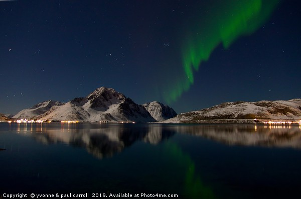 Northern Lights, Lofoten Islands, Norway Canvas print by yvonne & paul carroll