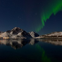 Buy canvas prints of Northern Lights, Lofoten Islands, Norway by yvonne & paul carroll
