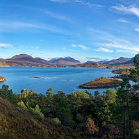 Buy canvas prints of Looking over to Torridon from Applecross Peninsula by yvonne & paul carroll