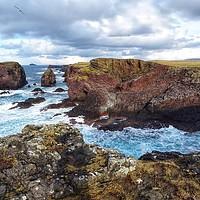 Buy canvas prints of Cliffs at Eshaness, mainland Shetland by yvonne & paul carroll