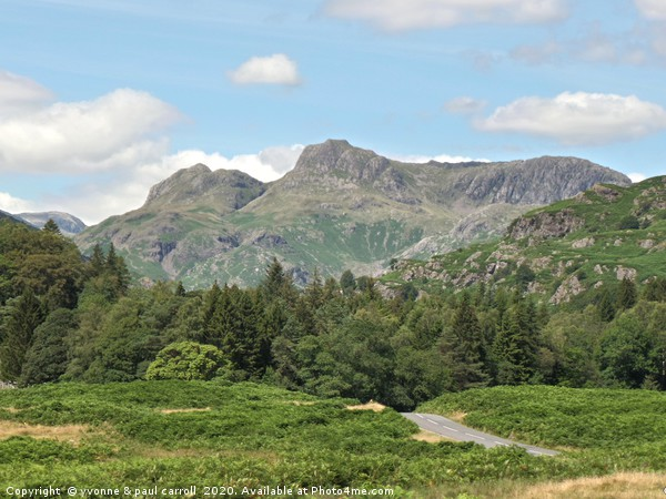 Langdale Pikes, Lake District Canvas Print by yvonne & paul carroll
