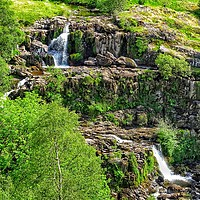 Buy canvas prints of Loup of Fintry cascading waterfalls         by yvonne & paul carroll