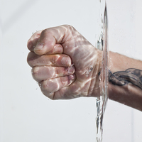 Buy canvas prints of Hand in water by David Pacey