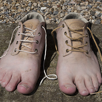 Buy canvas prints of Shoe Feet by David Pacey