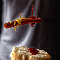 Buy canvas prints of Hot Dog by David Pacey