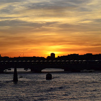 Buy canvas prints of Sunset on Southwark Bridge by phil robinson