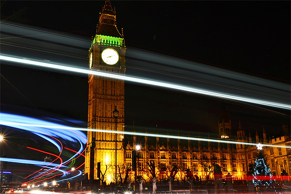 Westminster Lights Canvas print by phil robinson