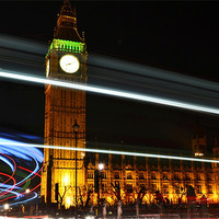 Buy canvas prints of Westminster Lights by phil robinson