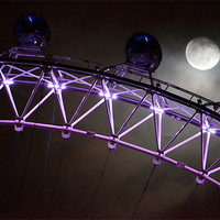 Buy canvas prints of London Eye in Moonlight by phil robinson