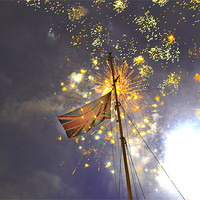 Buy canvas prints of Thames Fireworks New Year 2013 by phil robinson