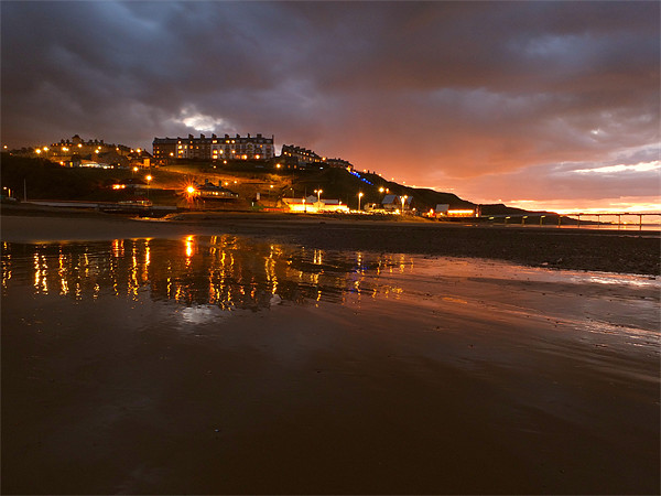 Saltburn Skyline at night Canvas print by andrew pearson