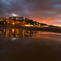 Buy canvas prints of Saltburn Skyline at night by andrew pearson