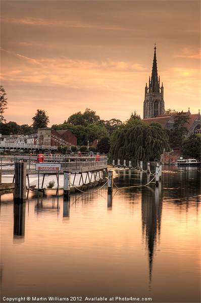 Evening over Marlow Framed Mounted Print by Martin Williams
