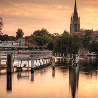 Buy canvas prints of Evening over Marlow by Martin Williams