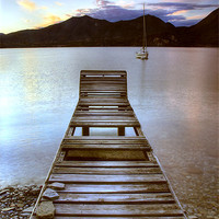 Buy canvas prints of Jetty - Lake Maggiore, Italy by Martin Williams