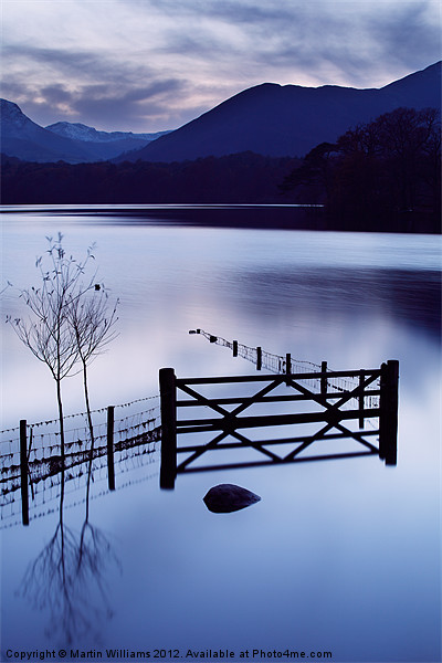 Evening at Derwent Water Framed Mounted Print by Martin Williams