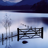 Buy canvas prints of Evening at Derwent Water by Martin Williams