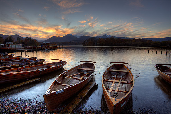 Derwent Water Rowing Boats Canvas print by Martin Williams
