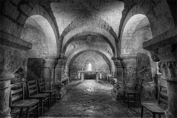 The Crypt at Lastingham Church Canvas print by Martin Williams