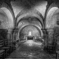 Buy canvas prints of The Crypt at Lastingham Church by Martin Williams